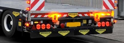 Back side Broshuis semi trailer