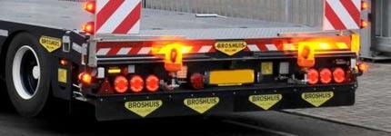 Back side Broshuis semi trailer