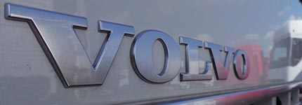 Volvo trucks logo on cab